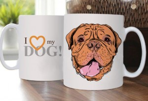 Cup with Dogue de Bordeaux