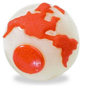 Planet Dog Orbee Ball - planetka fluo - roz. M