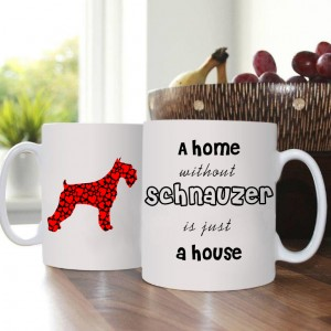 Kubek z psem - Home without Schnauzer