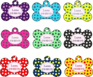 Dogs tags  Bone stars