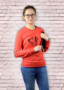 Bluza Labrador Retriever Profil | Poppy Red