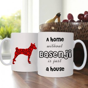 Kubek z psem - Home without Basenji