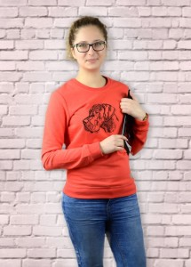 Bluza Dog Niemiecki Profil  | Poppy Red