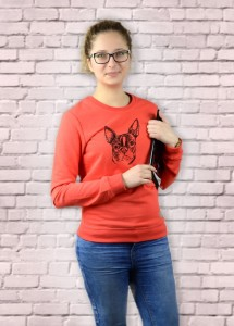 Bluza Boston Terrier | Poppy Red
