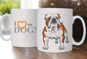 Cup with English Bulldog Portret
