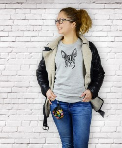 Bluza Boston Terrier | Glacier Grey