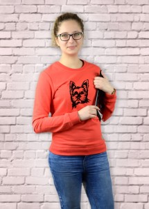 Bluza Yorkshire Terrier | Poppy Red