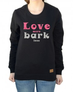 Bluza Love more Bark less | Black