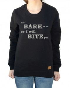 Bluza Don't Bark on me | Black