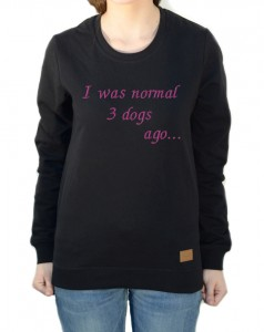 Bluza I was normal... | Black