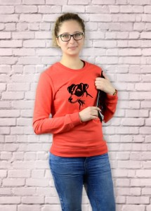 Bluza Jack Russell Terrier | Poppy Red