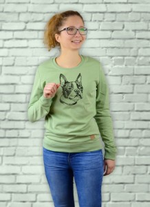 Bluza Boston Terrier Profil  | Mistletoe